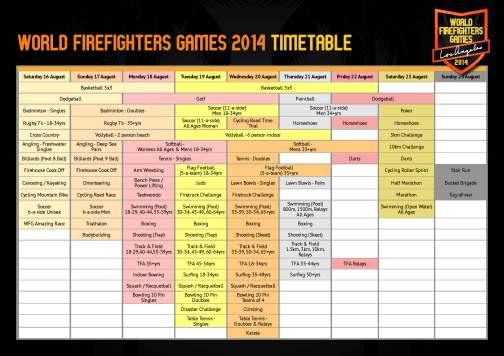 WFG LA 2014 timetable